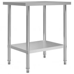 stradeXL Kuchenny stół roboczy, 80x60x85 cm, stal nierdzewna