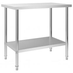 stradeXL Kuchenny stół roboczy, 100x60x85 cm, stal nierdzewna