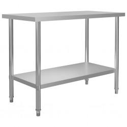 stradeXL Kuchenny stół roboczy, 120x60x85 cm, stal nierdzewna