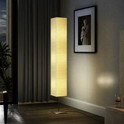 stradeXL Lampa podłogowa ze stalową podstawą, 170 cm, beżowa
