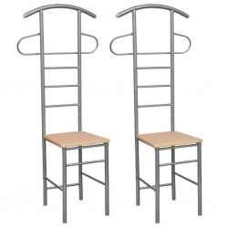 stradeXL Gentleman's Valet Chairs 2 pcs Metal