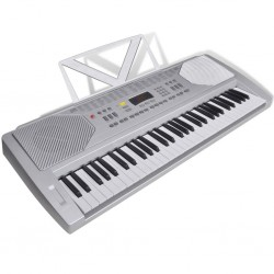 Keyboard elektryczny ze stojakiem na nuty