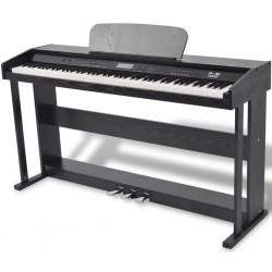stradeXL Pianino cyfrowe z 88 klawiszami i pedałami, płyta melaminowa