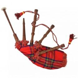 stradeXL Dudy szkockie dla dzieci w czerwoną kratę Royal Stewart