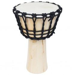 stradeXL Bęben djembe ze sznurkiem naciągowym, 25 cm, kozia skóra