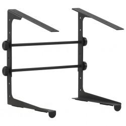 stradeXL Statyw do laptopa, czarny, 30,5x28x(24,5-37,5) cm, stalowy