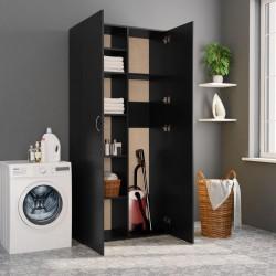 stradeXL Szafa, czarna, 80 x 35,5 x 180 cm, płyta wiórowa