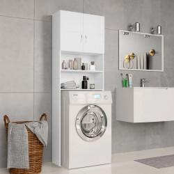 stradeXL Washing Machine Cabinet White 64x25.5x190 cm Chipboard