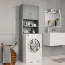 stradeXL Washing Machine Cabinet Grey 64x25.5x190 cm Chipboard