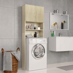 stradeXL Washing Machine Cabinet Sonoma Oak 64x25.5x190 cm Chipboard