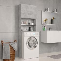 stradeXL Washing Machine Cabinet Concrete Grey 64x25.5x190 cm Chipboard