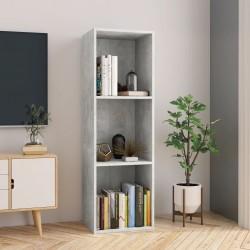 stradeXL Regał na książki/szafka TV, betonowy szary, 36x30x114 cm