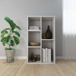 stradeXL Regał na książki/szafka, biały, 50x25x80 cm, płyta wiórowa
