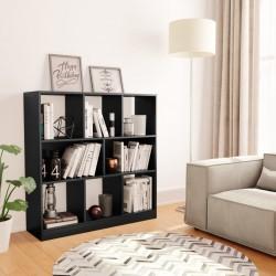 stradeXL Regał na książki, czarny, 97,5x29,5x100 cm, płyta wiórowa
