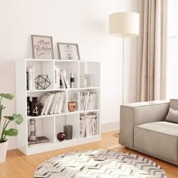 stradeXL Regał na książki, wysoki połysk, biały, 97,5x29,5x100 cm