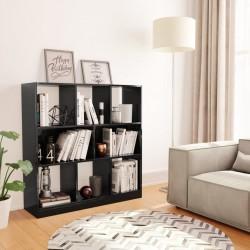stradeXL Regał na książki, wysoki połysk, czarny, 97,5x29,5x100 cm