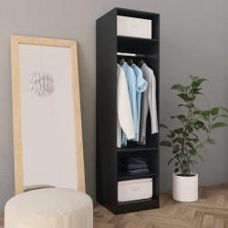 stradeXL Szafa, czarna, 50x50x200 cm, płyta wiórowa