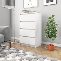 stradeXL Komoda, biała, 60 x 35 x 98,5 cm, płyta wiórowa