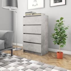 stradeXL Komoda, betonowa szarość, 60 x 35 x 98,5 cm, płyta wiórowa