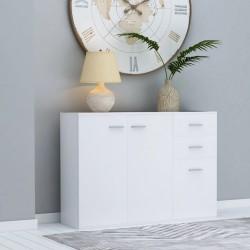 stradeXL Komoda, biała, 105 x 30 x 75 cm, płyta wiórowa