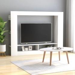 stradeXL Szafka telewizyjna, biała, 152 x 22 x 113 cm, płyta wiórowa