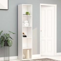 stradeXL Regał na książki, biały, 40 x 30 x 189 cm, płyta wiórowa