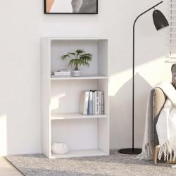 stradeXL 3-poziomowy regał na książki, biały, 60 x 30 x 114 cm