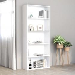 stradeXL 5-poziomowy regał, biały, 80x30x189 cm, płyta wiórowa