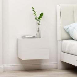 stradeXL Szafka nocna, biała, 40 x 30 x 30 cm, płyta wiórowa