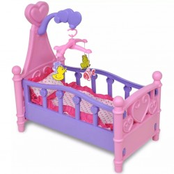 Kids'/Children's Playroom Toy Doll Bed Pink + Purple