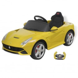 stradeXL Samochód - jeździk Ferrari F12, żółty