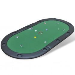 stradeXL Składany blat do pokera dla 10 graczy, zielony