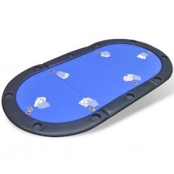 stradeXL Składany blat do pokera dla 10 graczy, niebieski
