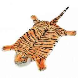 stradeXL Pluszowy dywanik - tygrys, 144 cm, brązowy