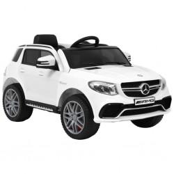 stradeXL Samochód dla dzieci Mercedes Benz GLE63S, plastikowy, biały