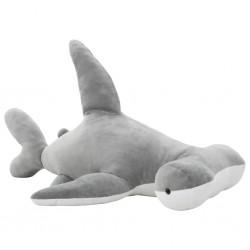 stradeXL Pluszowy rekin młot przytulanka, szary