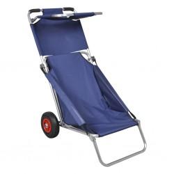 stradeXL Przenośny wózek i krzesło w jednym, składany, niebieski