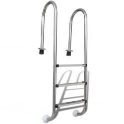 stradeXL Pool Ladder 3 Steps Stainless Steel 120 cm