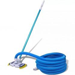 Szczotka do czyszczenia basenu z wężem i teleskopową rączką