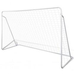 stradeXL Bramka do piłki nożnej, 240 x 90 x 150 cm, stal