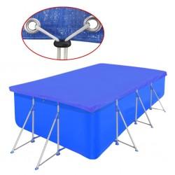 stradeXL Pool Cover PE Rectangular 90 g/sqm 394 x 207 cm
