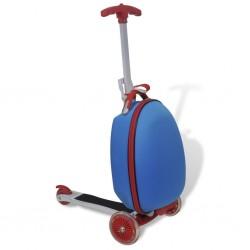 stradeXL Hulajnoga dla dzieci z kuferkiem, niebieska