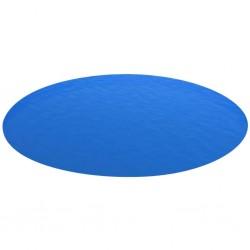 Pokrywa okrągła solarna na basen 488 cm, PE niebieska