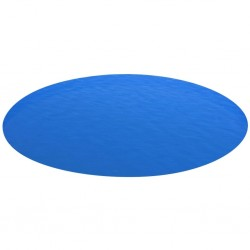 stradeXL Plandeka na okrągły basen, 549 cm, PE, niebieska