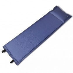 stradeXL Mata samopompująca, pojedyncza 185 x 55 x 3 cm, niebieska