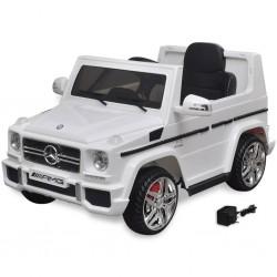 stradeXL Autko elektryczne biały Mercedes Benz G65 SUV 2 silniki, biały