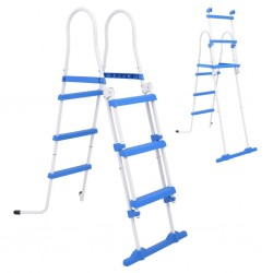 stradeXL Above-Ground Pool Safety Ladder with 3 Steps 107 cm