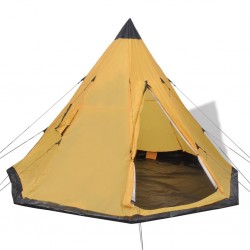 stradeXL Namiot 4-osobowy, żółty