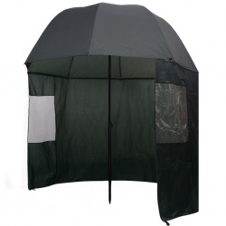 stradeXL Fishing Umbrella Green 300x240 cm