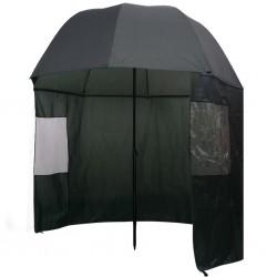 stradeXL Parasol wędkarski / na ryby zielony 300x240 cm